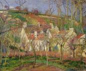 The Red Roofs, or Corner of a Village, Winter, 1877 (oil on canvas) mural wallpaper thumbnail