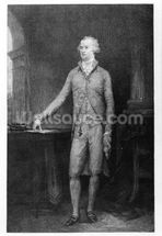 Alexander Hamilton, after the painting of 1792 (engraving) wall mural thumbnail