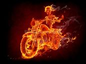 Fire Biker mural wallpaper thumbnail