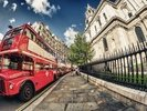 Red Double Decker Bus wall mural thumbnail