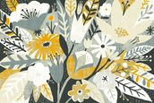 Vintage Bouquet Yellow mural wallpaper thumbnail