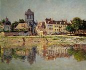 By the River at Vernon, 1883 (oil on canvas) mural wallpaper thumbnail