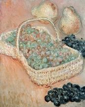 The Basket of Grapes, 1884 (oil on canvas) wall mural thumbnail