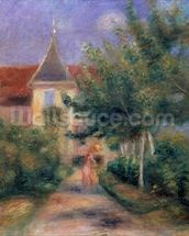 Renoirs house at Essoyes, 1906 (oil on canvas), mural wallpaper thumbnail