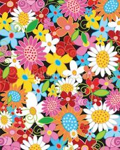 Spring Flower Power wallpaper mural thumbnail