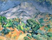 Mont Sainte-Victoire, 1900 (oil on canvas) wall mural thumbnail