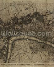Old London Map mural wallpaper thumbnail