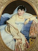 Portrait of Madame Riviere (1773/74-1848) nee Marie Francoise Jacquette Bibiane Blot de Beauregard, 1805 (oil on canvas) wall mural thumbnail