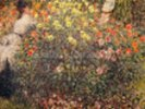 Women in the Flowers, 1875 (oil on canvas) wall mural thumbnail