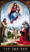 The Foligno Madonna, c.1511-12 (oil) wall mural thumbnail