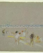 Cricket on the Goodwin Sands (chalk, w/c & bodycolour on paper) wall mural thumbnail