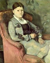 The Artists Wife in an Armchair, c.1867 (oil on canvas) mural wallpaper thumbnail