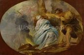 The Martyrdom of St. Lucy, c.1620 (oil on canvas) wall mural thumbnail