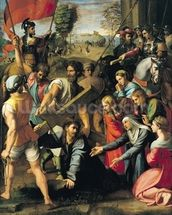 The Fall on the Road to Calvary, 1517 (oil on canvas) mural wallpaper thumbnail