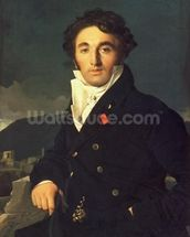 Portrait of Charles Cordier (1777-1870) 1811 (oil on canvas) mural wallpaper thumbnail