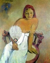 Girl with fan, 1902 (oil on canvas) wall mural thumbnail