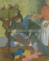 At the Milliners, c.1898 (pastel on paper) mural wallpaper thumbnail