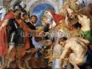 Abraham and Melchizedek, 1615-18 (oil on panel) wall mural thumbnail
