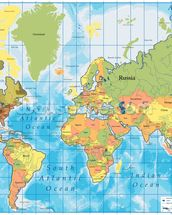 World Map mural wallpaper thumbnail