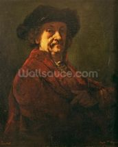 Copy of a Rembrandt Self Portrait, 1869 (oil on canvas) wall mural thumbnail