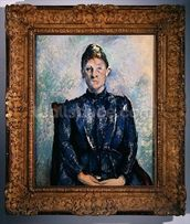 Portrait of Madame Cezanne, c.1890 (oil on canvas) wall mural thumbnail