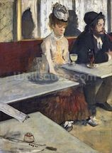 In a Cafe, or The Absinthe, c.1875-76 (oil on canvas) wall mural thumbnail