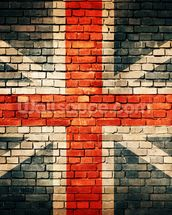 Union Jack on Old Brick wall mural thumbnail