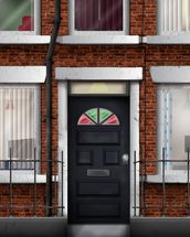 Terraced Houses wallpaper mural thumbnail