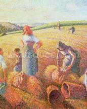 The Gleaners, 1889 (oil on canvas) mural wallpaper thumbnail