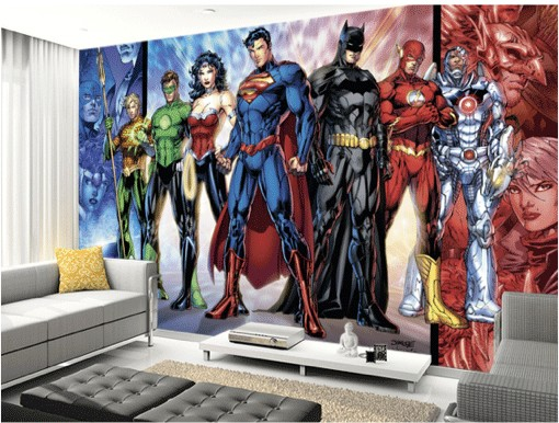 If You Donu0027t Want A Wall Mural, Why Not Have A Wall Decal Of Your Favourite  Character. A Life Sized Batman, Superman Or Captain Kirk, You Choose.