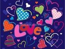Cute Love Doodles wall mural thumbnail