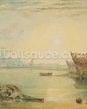 Teignmouth, Devonshire, c.1813 (w/c on paper) mural wallpaper thumbnail