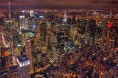 New York Night Life wallpaper mural thumbnail