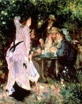 In the Garden, or Under the Trees of the Moulin de la Galette, 1875 (oil on canvas) wall mural thumbnail