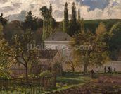 House in the Hermitage, Pontoise, 1873 (oil on canvas) wall mural thumbnail