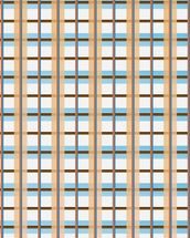 Orange and Blue Pattern wall mural thumbnail