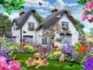 Delphinium Cottage wall mural thumbnail