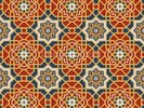 Arabesque seamless pattern in editable vector file wall mural thumbnail