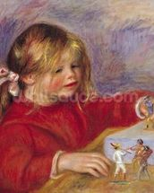 Claude Renoir (b.1901) at Play, 1905 (oil on canvas) wallpaper mural thumbnail