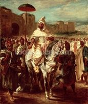Abd Ar-Rahman (d.788) Sultan of Morocco (oil on canvas) wall mural thumbnail
