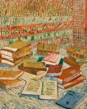 The Yellow Books, 1887 (oil on canvas) mural wallpaper thumbnail
