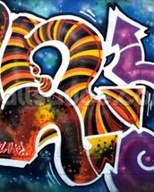 Graffiti - Scibble mural wallpaper thumbnail