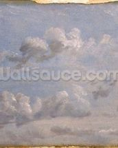 Study of Cumulus Clouds, 1822 (oil on paper laid down on panel) wallpaper mural thumbnail