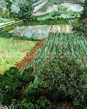 Field with Poppies, 1889 (oil on canvas) wallpaper mural thumbnail