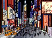 New York - Night View of Times Square wallpaper mural thumbnail