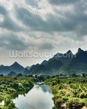 Yulong River Guilin, Yangshuo Guangxi wallpaper mural thumbnail