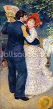 A Dance in the Country, 1883 (oil on canvas) wall mural thumbnail