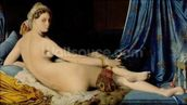 The Grande Odalisque, 1814 (oil on canvas) wallpaper mural thumbnail
