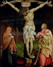 The Crucifixion, c.1525 (oil on panel) wallpaper mural thumbnail