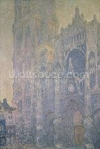 Rouen Cathedral, Harmony in White, Morning Light, 1894 (oil on canvas) wallpaper mural thumbnail